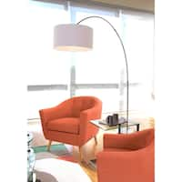 Oliver & James Isa Contemporary Nickel Arched Floor Lamp