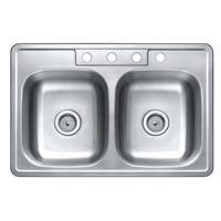 Winpro Top Mount Double Bowl Stainless Steel Kitchen Sink