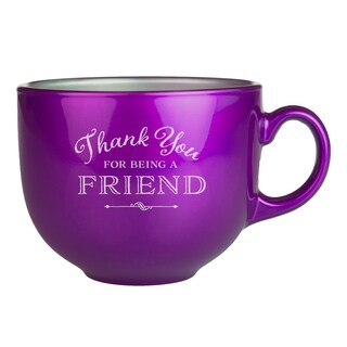 Thank You Blueberry Metallic Mug (Set of 2)