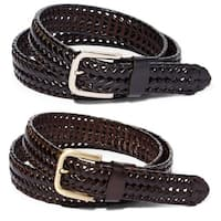 E.M.P. Men's Braided Leather Dress Belt