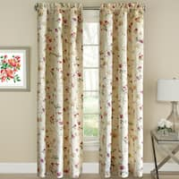 Floral Jacquard Window Curtain Panel