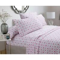 Silver Orchid Flynn Pastel Sheets Set - Pink floral, Deep Pockets