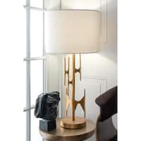 Watch Hill 30-inch Freeform Gold Linen Shade Table Lamp
