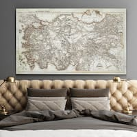 Antique Map of Turkey 3 - Premium Gallery Wrapped Canvas