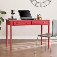Harper Blvd Jennifer Farmhouse 2-Drawer Writing Desk - Rustic Red