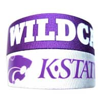 NCAA Kansas State Wildcats Slap Snap Wrap Wrist Band (Set of 2)