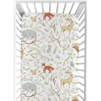 Sweet Jojo Designs Woodland Toile Collection Fitted Crib Sheet