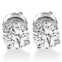 14k White Gold 1 ct TDW Diamond Screw Back Studs