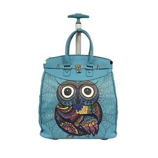 Rollies Miss Owl Rolling Aluminum 14-inch Laptop Travel Tote