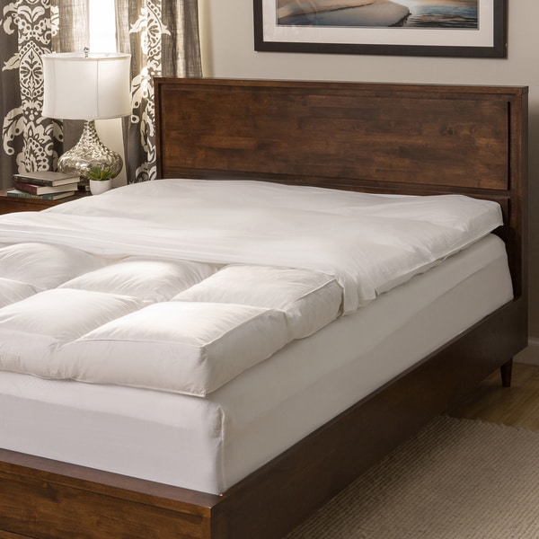 Super Snooze 5 Inch 230 Thread Count Baffled Featherbed Set
