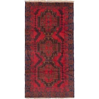 ecarpetgallery Hand Knotted Kazak Red Wool Rug - 3'6 x 6'7