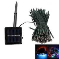 200-LED Colorized Outdoor Waterproof Christmas Decoration Solar Power String Light