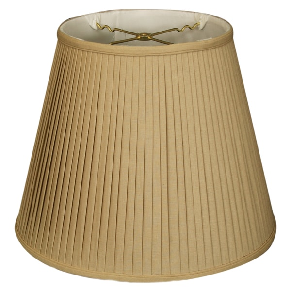 Royal Designs Empire Side Pleat Basic Lamp Shade, Linen / Taupe 9 x 14 x 10.5
