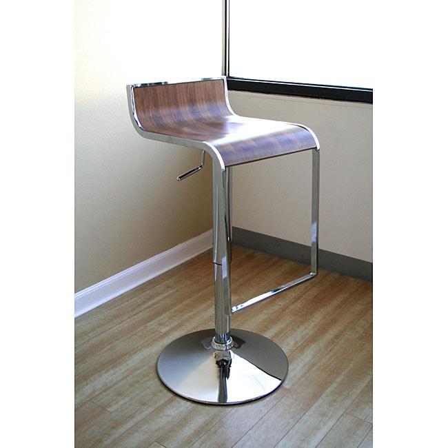 Baxton Studio Modern Adjustable Curved Bar Stool 1135974