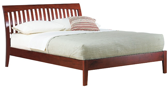 Contemporary Shaker King Size Platform Bed 1136152 Overstock Com Shopping Great Deals On