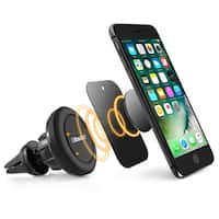 BasAcc Black Magnetic Car Air Vent Phone Holder with Joint Ball