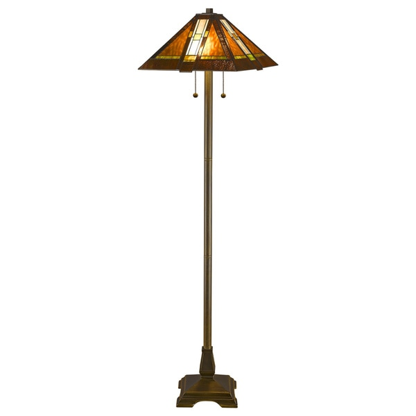 Tiffany Style Aztec Mission Floor Lamp 1137624