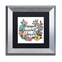 Elizabeth Caldwell 'Imagine Yourself Happy Color' Matted Framed Art
