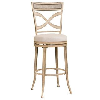 Hillsdale Furniture Wayborn Indoor/Outdoor Swivel Bar Stool in Rubbed Bronze Finish