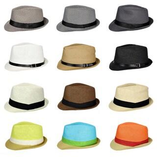 E.M.P. Unisex Cuban-style Fedora Short Brim Hat