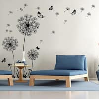 Dandelion Wall Decal - Wall Stickers Dandelion Art Decor- Vinyl Large Peel and Stick Mural, Removable