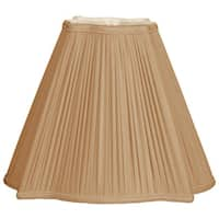 Royal Designs Fancy Empire Antique Goldtone 6.75-inch x 16-inch x 13.25-inch Square Pleated Lampshade