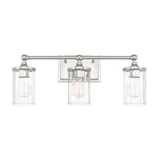 Capital Lighting Camden Collection 3-light Polished Nickel Bath/Vanity Light