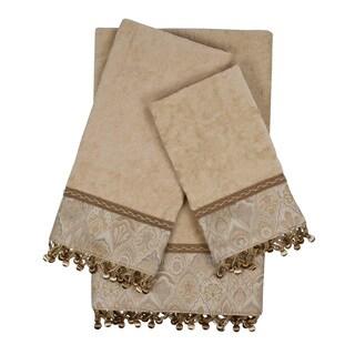 Sherry Kline Mandalay Taupe Decorative Embellished Towel Set