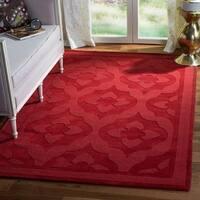 Martha Stewart by Safavieh Casbah Vermillion / Red Wool Area Rug - 8' x 10'