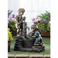 Precious Childern Antique-Style Water Fountain