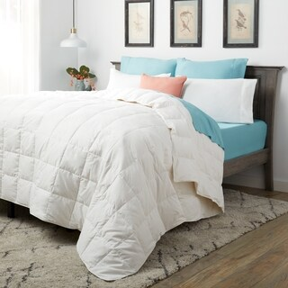 Eddie Bauer Lightweight 400 Thread Count White Down Oversized Blanket