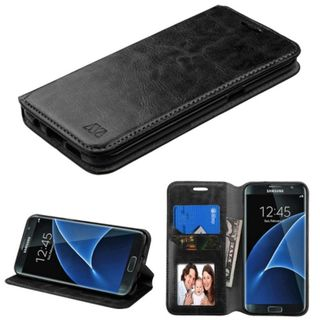 Insten Leather Case Cover with Stand/ Wallet Flap Pouch/ Photo Display For Samsung Galaxy S7 Edge