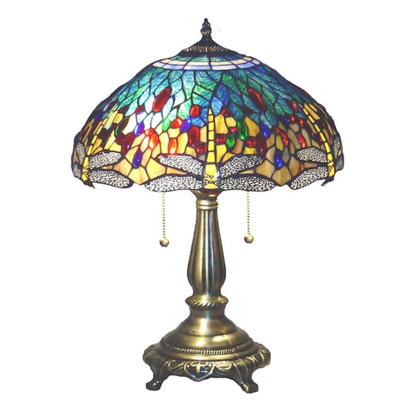 Tiffany Style Yellow Dragonfly Table Lamp 1149748