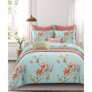 Lavish Night Sea Mist 7-piece Cotton Duvet Set