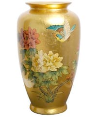Handmade Gold Tung Chi Porcelain Vase (China)