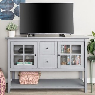 Modern 52-inch Wood Console TV Stand