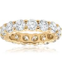 14k Yellow Gold 5 ct TDW Diamond Eternity Wedding Ring (I-J, I2)