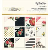 "My Mind's Eye Double-Sided Paper Pad 6""X6"" 24/Pkg-In Bloom W/Gold Foil, 12 Designs"
