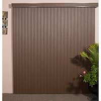 WoodLook Chestnut Textured Vinyl Veritical Blind, 72 inches Long x 36 to 98 inches Wide