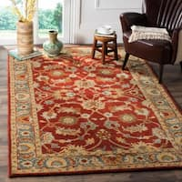Safavieh Heritage Traditional Oriental Hand-Tufted Wool Red/ Blue Area Rug - 9' x 12'