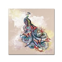 The Tangled Peacock 'Butterfly Peacock' Canvas Art