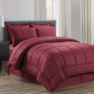8-piece Embossed Vine Comforter Set