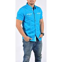 CircleOne Men's Casual Short-sleeve Button-down Shirt
