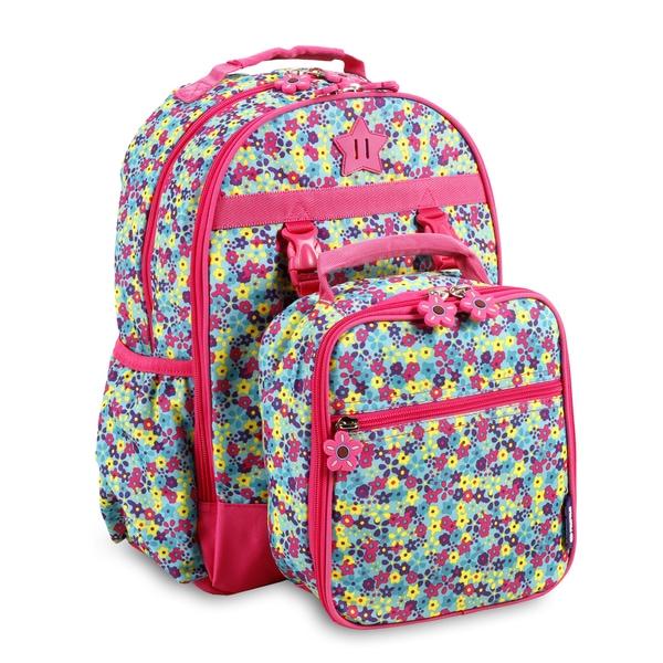 J World New York Duet Floret Kids Backpack and Lunch Bag Set
