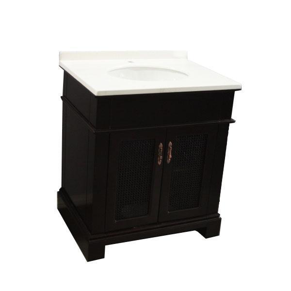 Zen 30-inch Solid Wood Modern Bathroom Vanity - Overstock ...