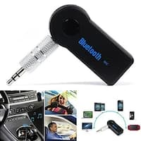 Universal 3.5mm Car A2DP Wireless Bluetooth Car Kit AUX Audio Music Receiver - black