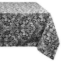 Black Damask Tablecloth