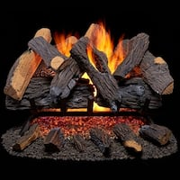 Duluth Forge Vented Natural Gas Fireplace Log Set - 24 in., 55,000 BTU, Heartland Oak