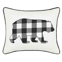 Eddie Bauer Cabin Plaid Bear Throw Pillow