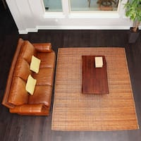 Bali Chestnut Woven Natural Bamboo & Rattan Area Rug - 8' x 10'